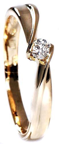 Zlatý prsten s diamantem PD229