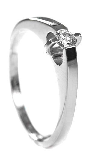 Zlatý prsten s diamantem PD205