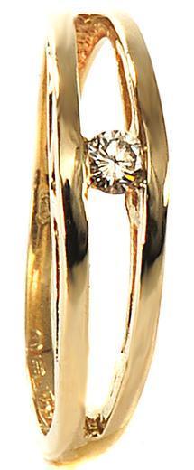 Zlatý prsten s diamantem PD2017  - 1