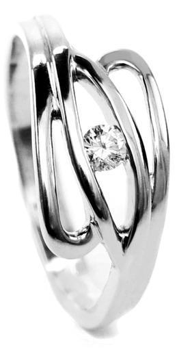 Zlatý prsten s diamantem PD299  - 1