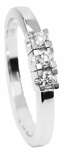 Zlatý prsten s diamanty 70120  - 1