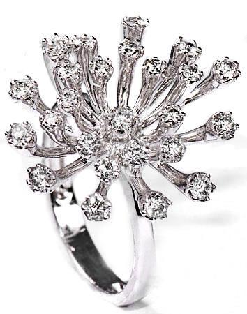 Zlatý prsten s diamanty PD190