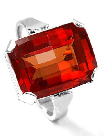 Zlatý prsten s padparadžou P964  - 1