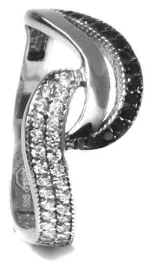 Zlatý prsten se zirkony P1016