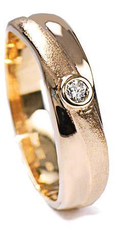Zlaté snubní prsteny S37