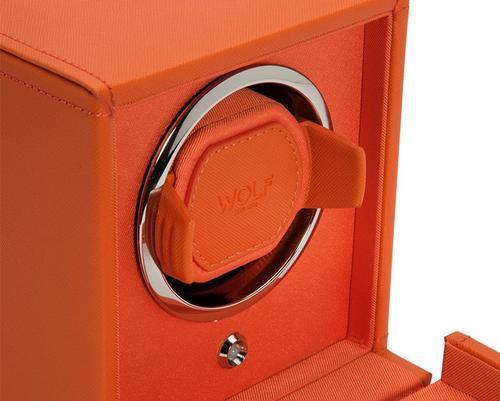 Wolf Cub single oranžová kůže 461139 watchwinder  - 2