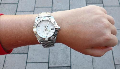 BREITLING GALACTIC 36 pearl diamond A37330121A1A1  - 2
