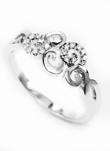 Zlaty prsten s diamanty 039128  - 2