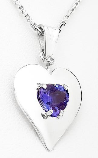 Zlatý přívěšek s tanzanitem srdce 20042020  - 2