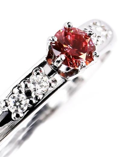 Zlatý prsten s růžovým diamantem 015361  - 2
