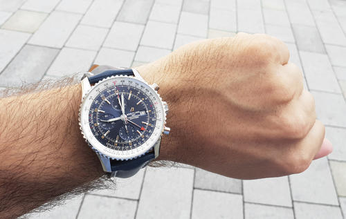 BREITLING NAVITIMER Chronograph GMT 46 A24322121C2A1  - 2