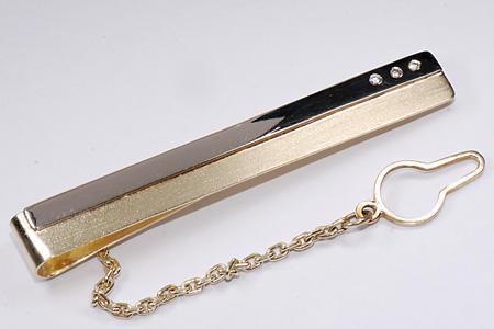 Zlatá kravatová spona s diamanty 1.09  - 2