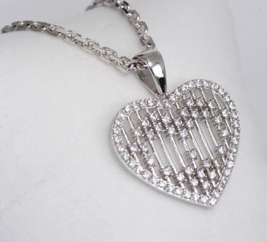Zlatý přívěšek srdce P90  - 2