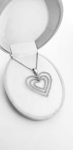 Zlatý přívěšek velká srdce 067283  - 2