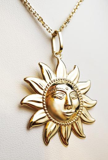 Zlatý přívěšek slunce 023618  - 2