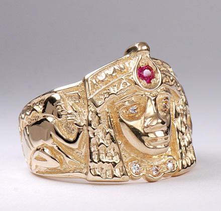 Zlatý prsten Kleopatra P834  - 2
