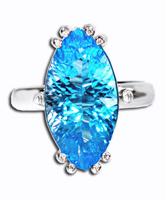 Zlatý prsten Modrá laguna PD370  - 2