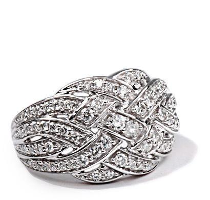 Zlatý prsten s diamanty PD438  - 2