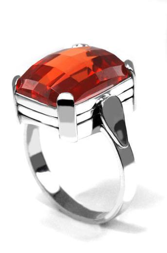 Zlatý prsten s padparadžou P964  - 2