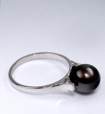 Zlatý prsten s perlou P883  - 2