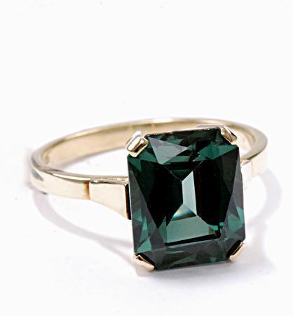 Zlatý prsten s turmalínem P943  - 2