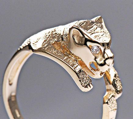 Zlatý prsten tygr P820  - 2