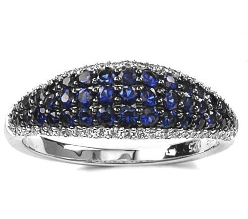 Zlatý prsten se safíry a diamanty PD2012  - 2