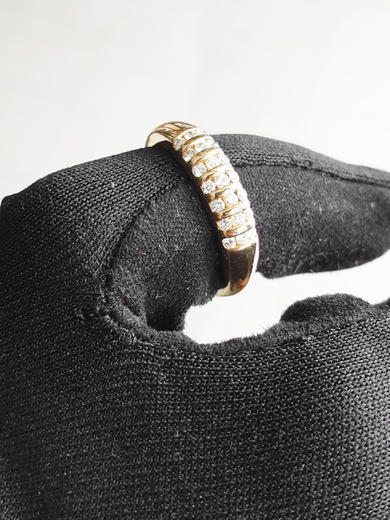 Zlatý prsten s diamanty PD318  - 2