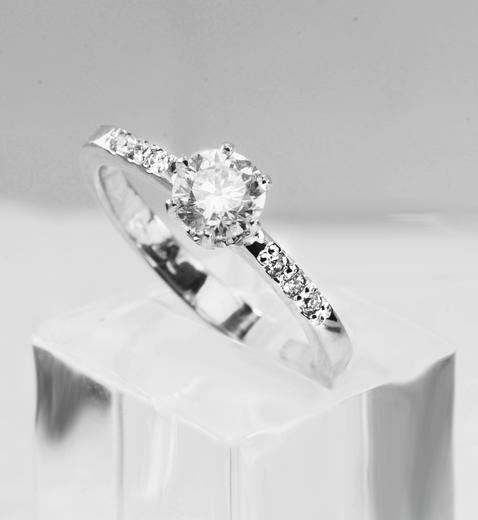 Zlatý prsten s diamanty A2611/2019  - 2
