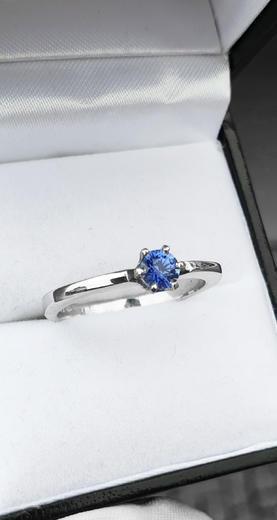 Zlatý prsten se safírem 015135  - 2