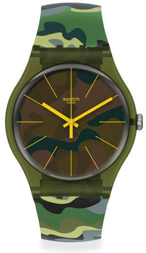 SWATCH hodinky SUOG114 CAMOUFOREST  - 2