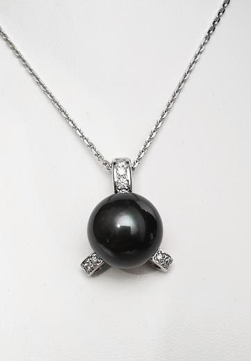 Zlatý přívěšek s tahitskou perlou TAHITI 023377  - 2
