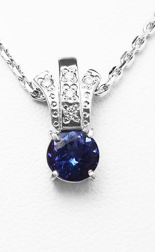 Zlatý přívěšek s tanzanitem a diamanty 023453  - 2