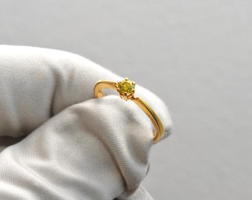 Zlatý prsten s barevným diamantem PD138  - 2