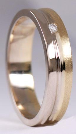 Zlaté snubní prsteny S17  - 2
