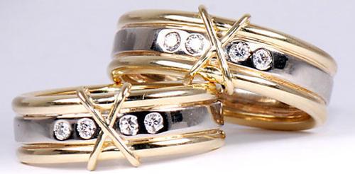 Zlaté snubní prsteny S29  - 2