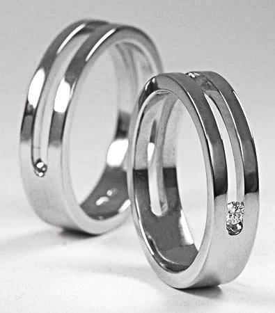 Zlaté snubní prsteny S9  - 2