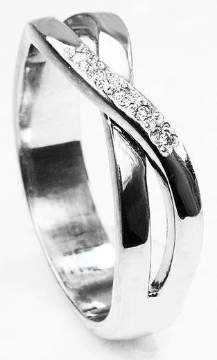Zlaty prsten s diamanty 015288  - 2