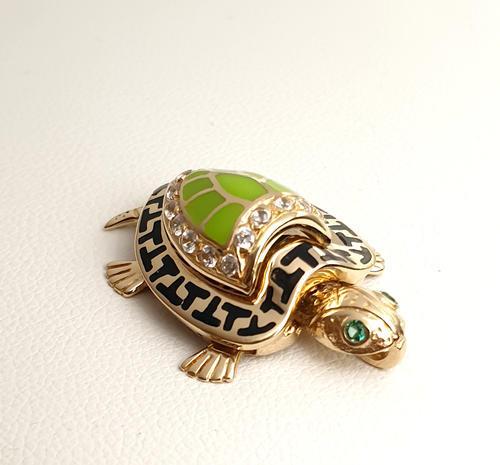 Zlatý přívěšek želvička 20900  - 2