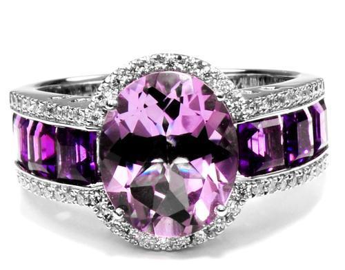 Zlatý prsten s ametysty a diamanty PD2014  - 2