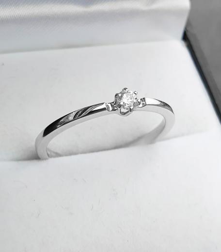 Zlatý prsten s diamantem 015273  - 2