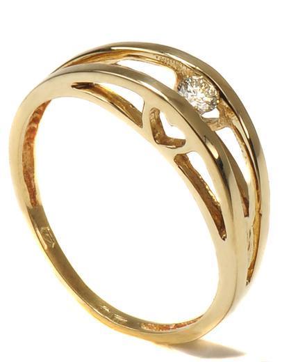 Zlatý prsten s diamantem PD2017  - 2
