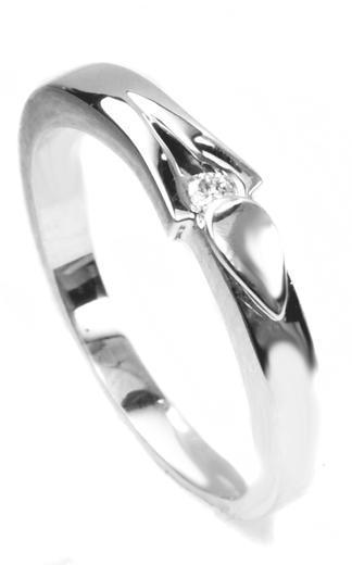 Zlatý prsten s diamantem PD381  - 2