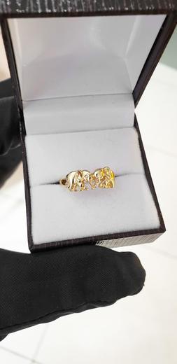 Zlatý prsten sloníci 017028  - 2