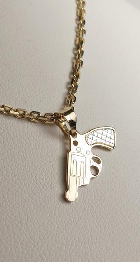 Zlatý přívěšek revolver 068333  - 2