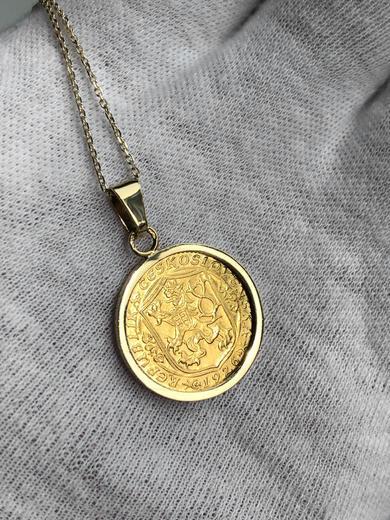 Zlatý přívěšek sv. Václav 21052021  - 3