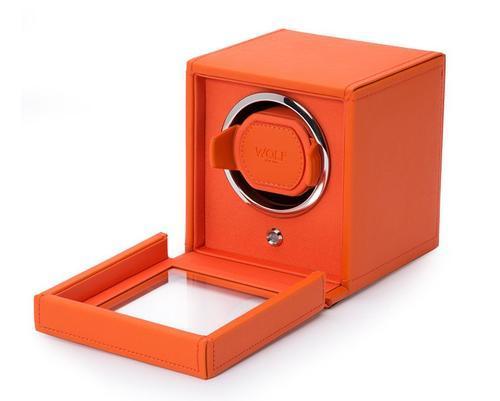 Wolf Cub single oranžová kůže 461139 watchwinder  - 3