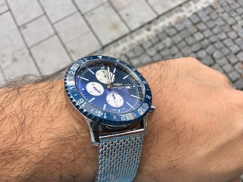 BREITLING CHRONOLINER BLUE Y2431016/C970/152A  - 3