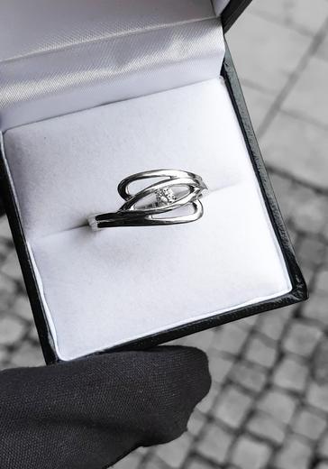 Zlatý prsten s diamantem PD299  - 2