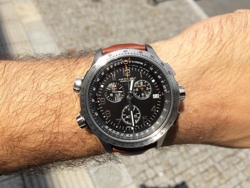 HAMILTON KHAKI Aviation X WIND GMT Chrono H77912535  - 3